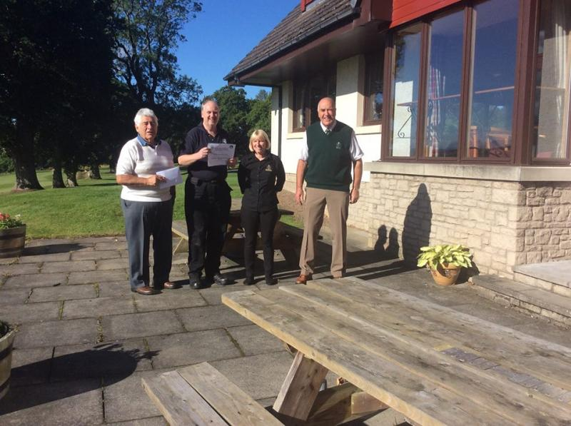 Minto Golf Club have raised £502 for BSARU