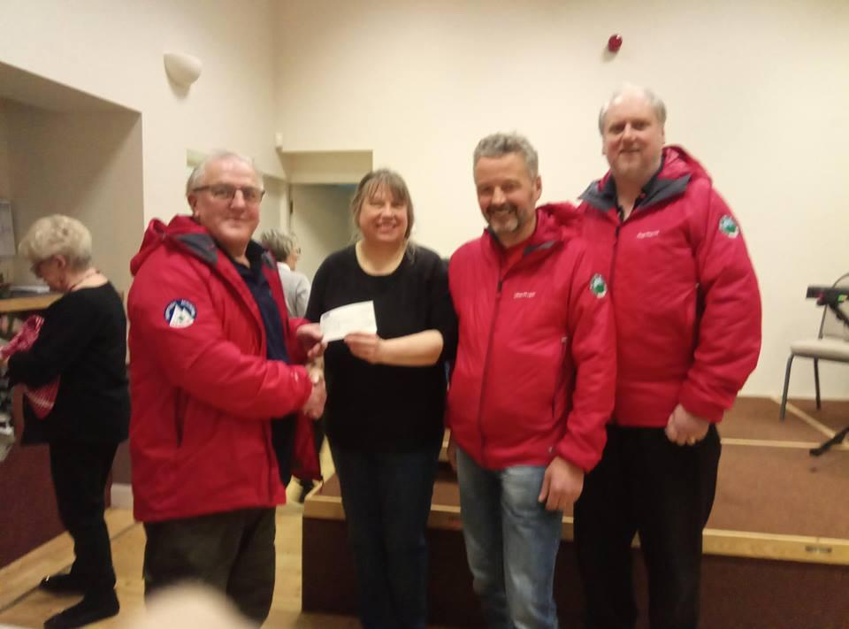 Donation to BSARU of £489.88 from Heiton Village Hall